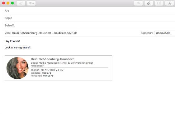 html mail signatur