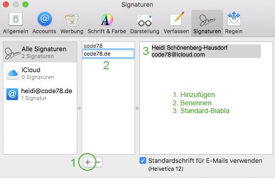 HTML Signaturen in Apple Mail erstellen