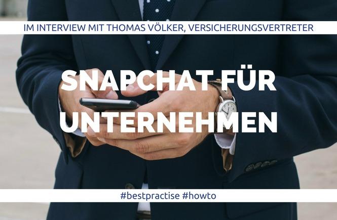 Snapchat für Unternehmen - Thomas Völker Allianz - Interview