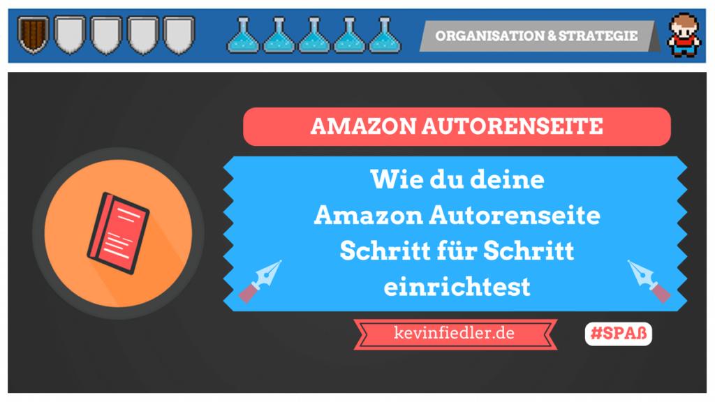 Die Amazon Autorenseite einrichten